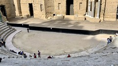 The stage and front row seating is the Roman amphitheater in Orange
