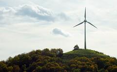 Windkraft Energie -seitlich