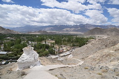 Chorten by Steps to Shanti Stupa