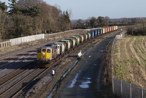 079 on Northwall-Ballina IWT liner at Stacumny Bridge 20-Nov-09