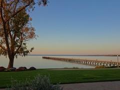 Streaky Bay. Sunset on the Streaky Bay jetty and bay.