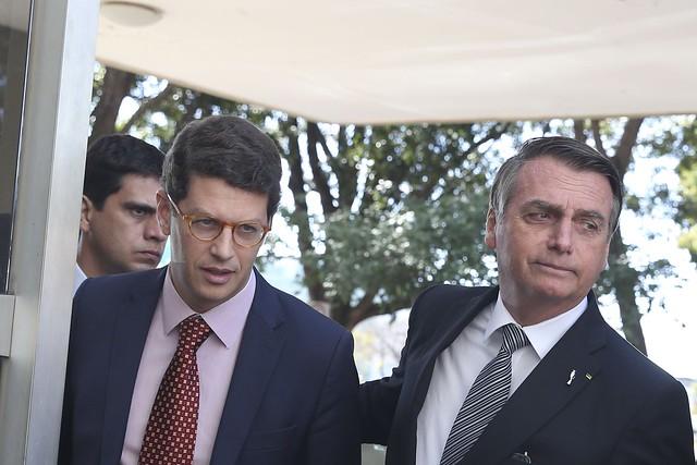 Empossado por Bolsonaro no início do ano, Ricardo Salles é hoje um dos principais destinos das críticas dirigidas ao governo  - Créditos: Antonio Cruz/Agência Brasil