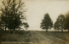 Looking Toward Cornfields, 1911 - Wheatfield, Indiana