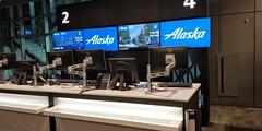 Alaska AIrlines Boarding Counter