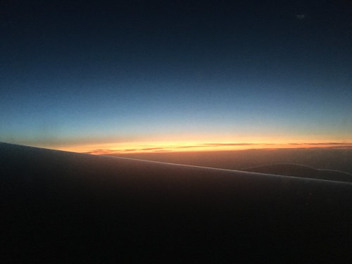 Sunrise over the Atlantic.
