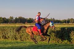 Horse archer in garb