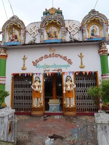 Wide view of Neighborhood Hindu Temple in Mawlamyine, Burma