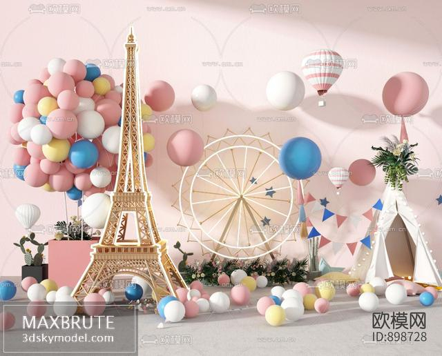 Decor for Wedding- birthday 3dsmax