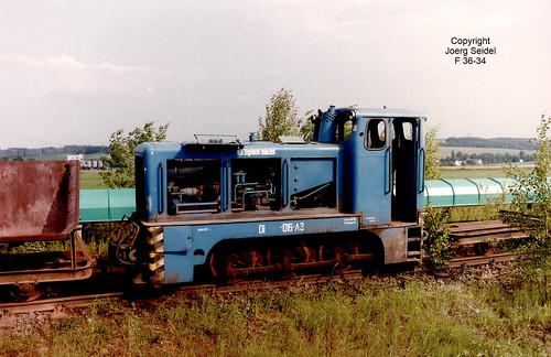 DE-09661 Hainichen Wienerberger Ziegelindustrie GmbH Feldbahn Diesellok LKM V10C Di-013-A3 (LKM 250407/1965) im Juni 1992