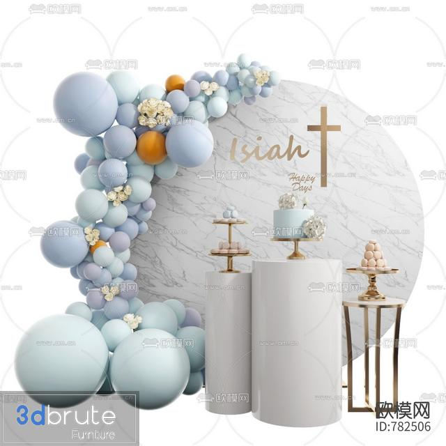 Decor for Wedding- birthday 3d model