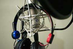 Professional studio Neumann microphone