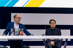 Tim Berners-Lee und Alex Choi auf der Bühne der Digital X in Köln