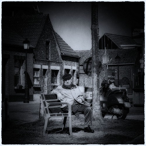 Old Man on Bench
