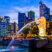 Blue Hour in Merlion Park, Singapore