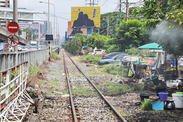 Railroad in Bangkok 8.9.2019 2210