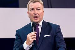 Marc Hansen Beigeordneter Minister für Digitalisierung Government of Luxembourg auf der Bühne der Digital X in Köln