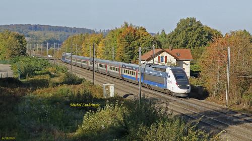 TGV POS Rame 4405 Train 9203 Paris GdL-Zurich Hbf à Dannemarie