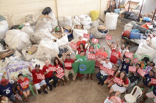 Aniversário do Lula com Catadores de resíduos sólidos