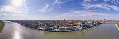 Panoramic view of Rheinauhafen in Cologne, Germany