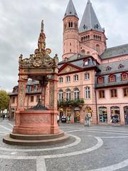 Marktbrunnen renaissance fountain in Mainz, Germany