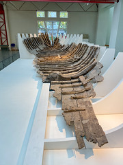 Roman shipwreck found in Mainz in the Museum of Ancient Seafaring, Mainz, Germany
