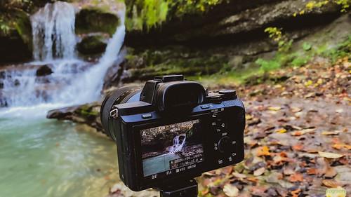 Am Wasserfall im Kemptner-Tobel