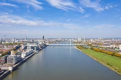 Severinsbrücke über den Rhein in Köln, Deutschland