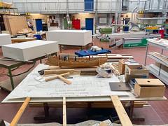 Werkstatt im Museum für Antike Schifffahrt in Mainz, Deutschland