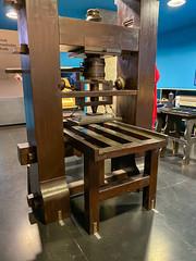 Gutenberg-Presse im Gutenberg-Museum, Mainz, Deutschland