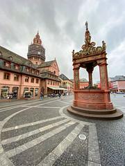Renaissance-Marktbrunnen in Mainz, Deutschland