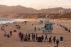 Lifeguard Huts On Santa Monica Beach