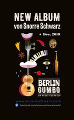 Maria Zaikina, advertising for Berlin Gumbo, new album by Snorre Schwarz