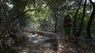 cobblestone path to Esporles