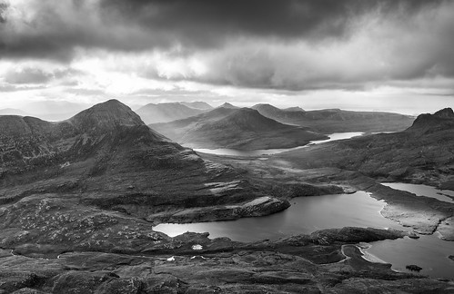 Assynt Panorama, from Cul Mor