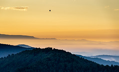 Balloon flight at sunrise