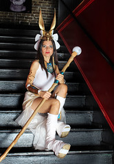 Latina on Stairs