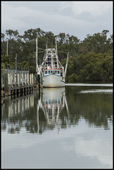 Trawler reflection on Cabbage Creek Shorncliffe=