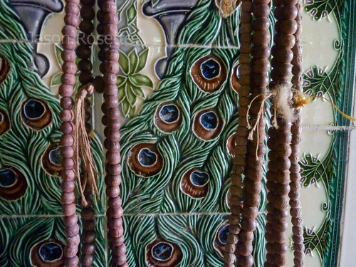 Medium of Buddhist Prayer Beads at Temple in Mawlamyine, Burma