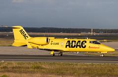 D-CURE Learjet 60R ADAC Ambulance opb Aero-Dienst FRA 2019-09-28 (12a)
