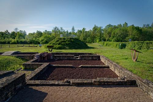Vestiges des Thermes de la villa gallo-romaine - Site archéologique du Vernay - Saint Romain de Jalionas - Isère