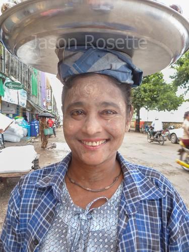 Woman at Local Market in Mawlyamine, Burma