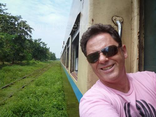 Self Portrait on Train in Burma