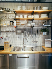 Ikea shop kitchen interior