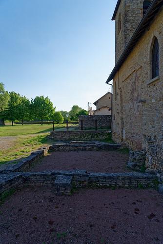 Vestiges de l'église paléochrétienne - Site archéologique du Vernay - Saint Romain de Jalionas - Isère