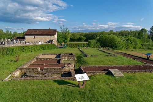 Vestiges des Thermes de la villa gallo-romaineSite archéologique du Vernay - Saint Romain de Jalionas - Isère