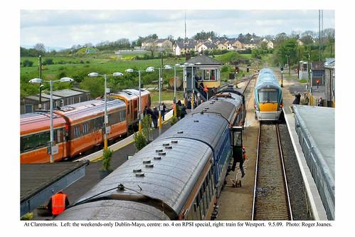 Claremorris. Three trains. 9.5.09