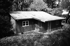 Weatherboard house with tin roof