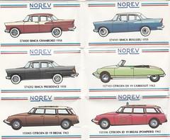 Simca & Citroën Norev models
