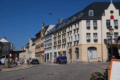 Bahnhofstr. Ecke Postplatz mit Neubau der Sparkasse