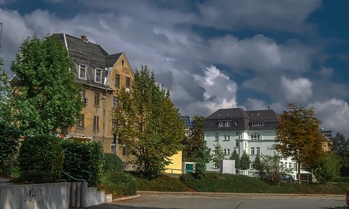 Blick auf die Moritz-Löscher Straße